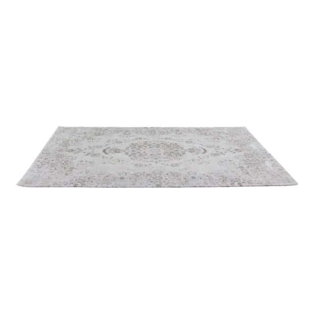 Transitional Distressed Gray Rug - 5'3'' x 7'7'' For Sale