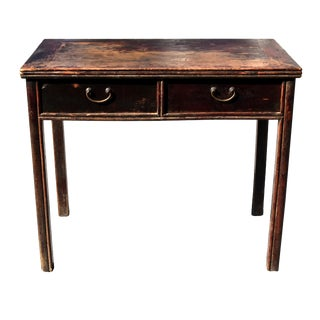 Antique Ming Desk Chinese Table with Two Drawers For Sale
