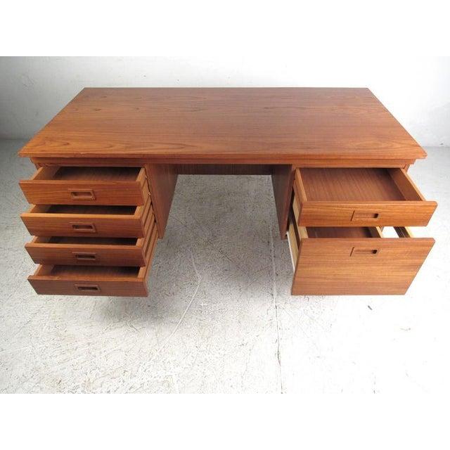 Danish Modern Teak Desk - Image 3 of 10