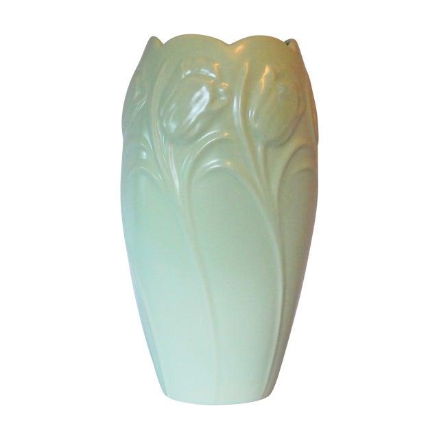 Royal Haeger Mint Green Tulip Vase Chairish