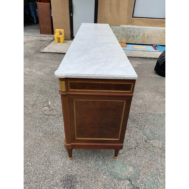 1910s French Louis XVI Antique Mahogany Sideboard For Sale - Image 11 of 13