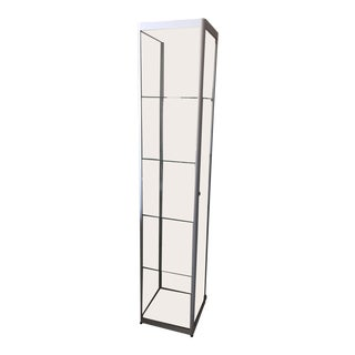 Glass and Steel Display Case For Sale