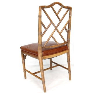 1970s Vintage Carved Faux Bamboo Dining Chairs- Set of 4 Preview