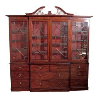 Elegant Period George III Mahogany Breakfront Bookcase