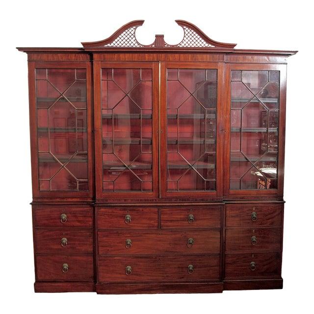 Elegant Period George III Mahogany Breakfront Bookcase - Image 1 of 11