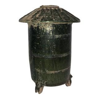 Han Dynasty Granary Green Terra Cotta Vessel For Sale