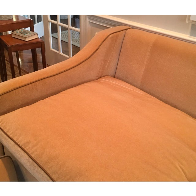Early 21st Century Luxury Mohair & Leather Trim Sofa For Sale - Image 5 of 9