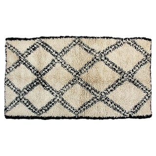 Moroccan Beni Ourain Rug-6' X 3'4'' For Sale