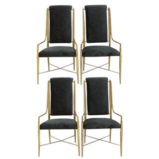 Mastercraft Brass Dining Chairs - Set of 4