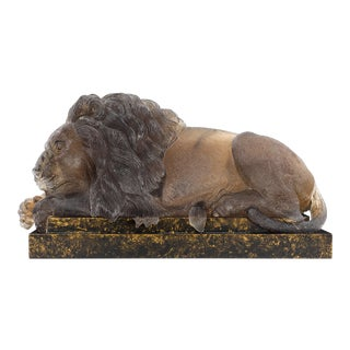 Carved Citrine Lion by Andreas Von Zadora-Gerlof For Sale