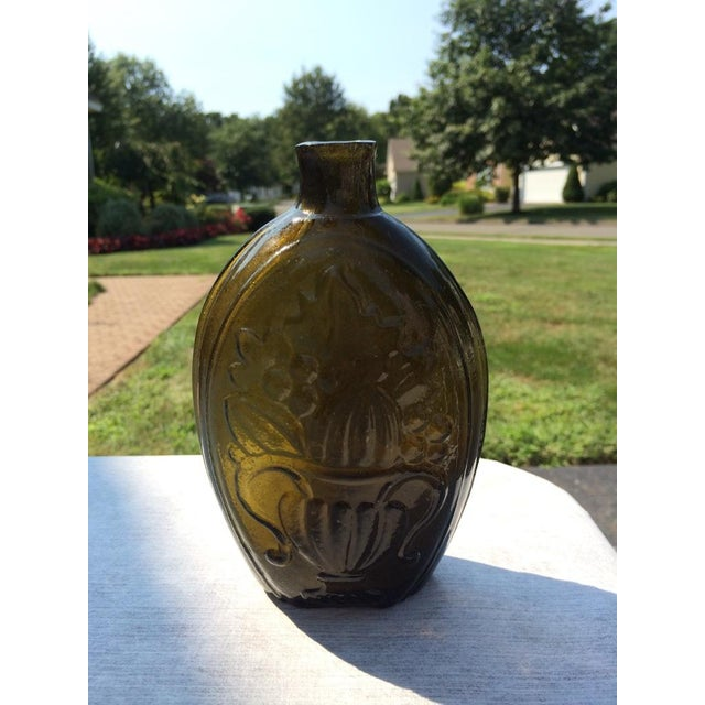 Green Glass Flask - Image 7 of 7