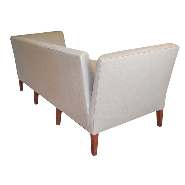 White Knole Style Sofa For Sale - Image 8 of 9