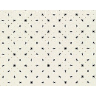Hinson for the House of Scalamandre Trixie Wallpaper in Black/gold on White For Sale