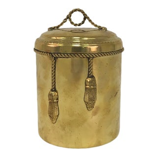 Brass Ice Bucket With Rope and Tassel Detail For Sale