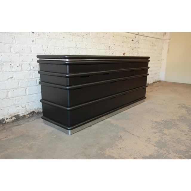 Vintage Jay Spectre for Century Furniture Cerused Oak & Chrome Dresser - Image 4 of 11