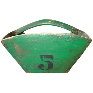 Vintage Green Grain Scoop