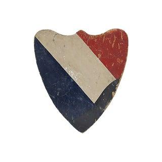 Antique French Shield Flag Holder For Sale