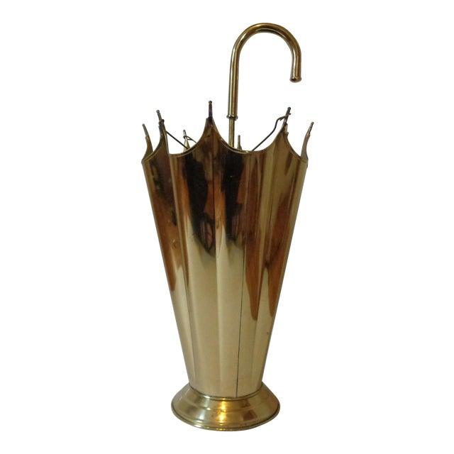 Vintage Brass Umbrella Stand - Image 1 of 4