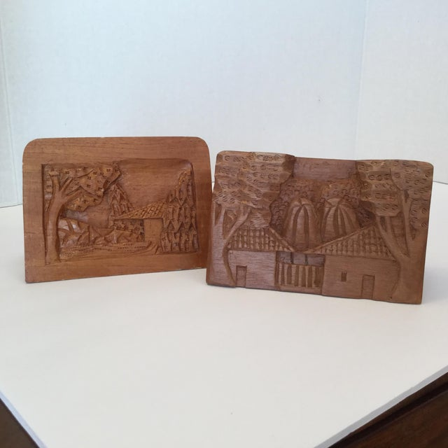 Hand Carved Wood Carvings - A Pair For Sale - Image 9 of 11