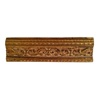 18th Century Italian Giltwood Architectural Carving For Sale