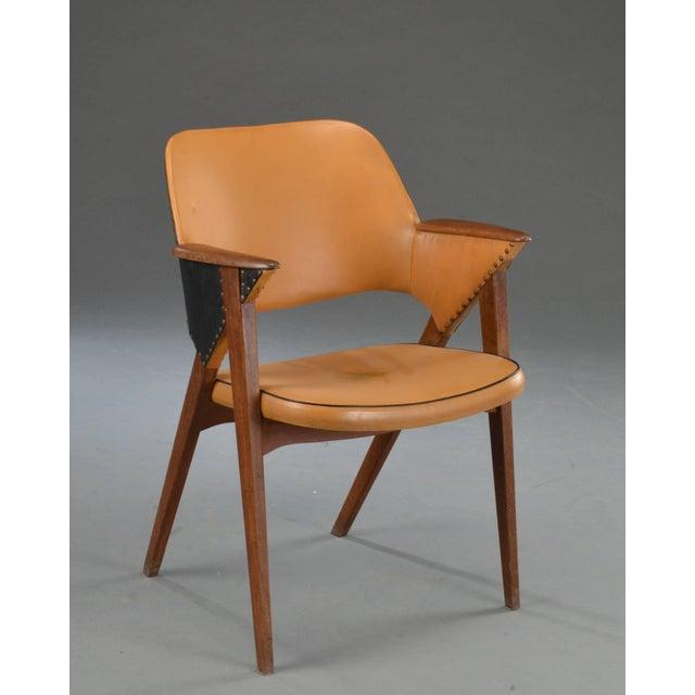 Mid-Century Modern Set of Four Danish Modern Midcentury Teak Armchairs For Sale - Image 3 of 8