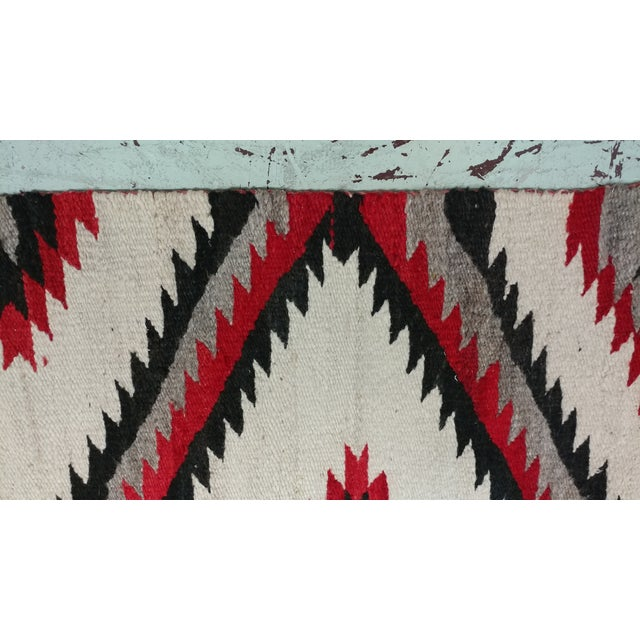 "Red Navajo Vintage Hand Woven Wool Rug - 4'6"" x 7'6"" For Sale - Image 8 of 10"