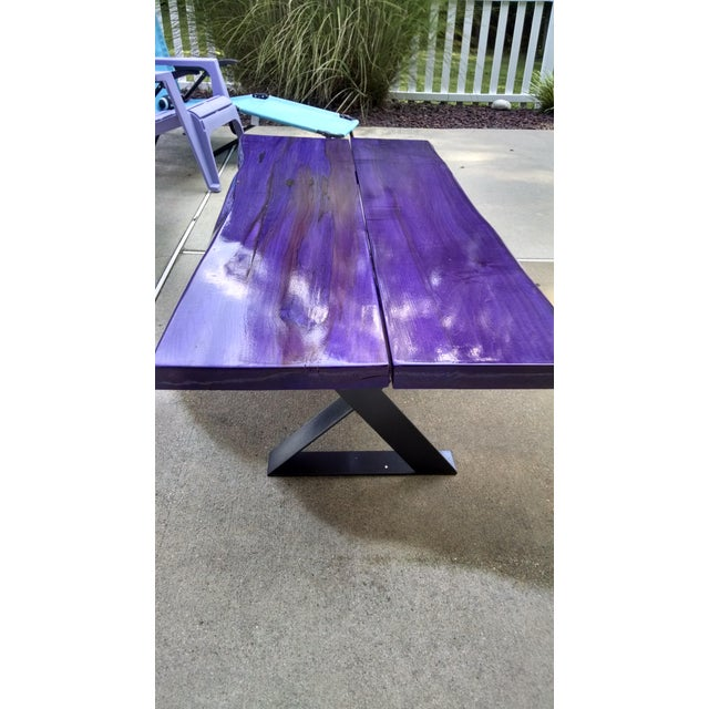 Modern Planked Table - Image 5 of 5