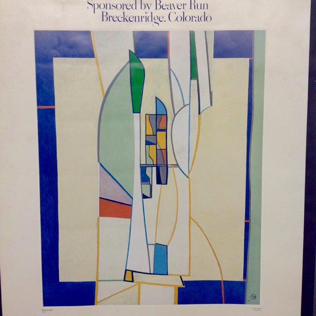 Abstract Francoise Gilot 1982 Exhibition Poster For Sale - Image 3 of 4