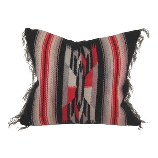 Wool Mexican Serape Pillow For Sale