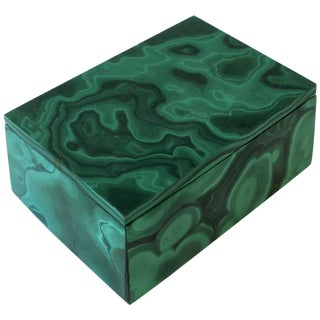 Green Malachite Box For Sale