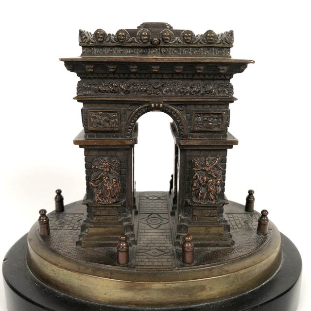 Small Grand Tour Bonze Architectural Model of the Arc De Triomphe in Paris For Sale - Image 4 of 11