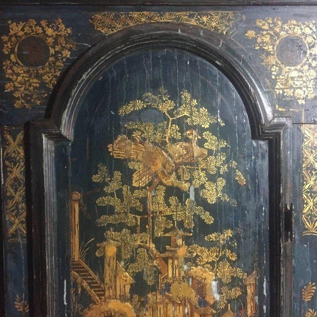 Metal Late 18th Century English Chinoiserie Tall Case Clock For Sale - Image 7 of 11
