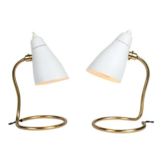 1950s Giuseppe Ostuni 'Vipere' Table Lamps for O-Luce - a Pair For Sale