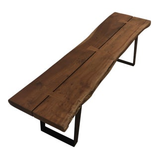 Rustic Crate and Barrel Yukon Coffee Table/Bench For Sale