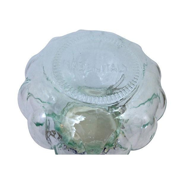 Glass Italian Quilted Glass Canister For Sale - Image 7 of 7