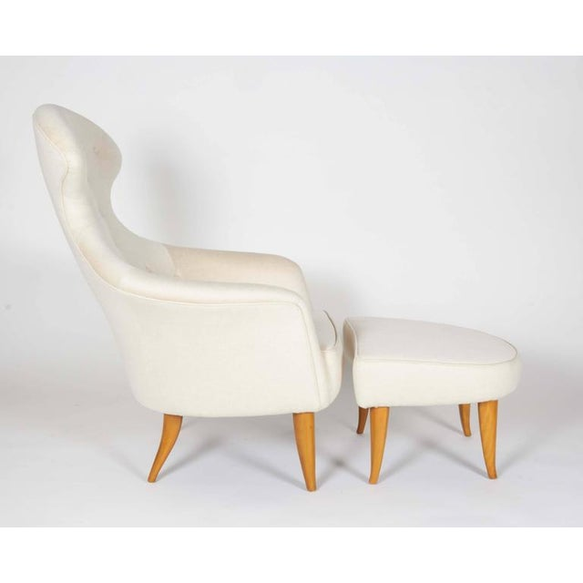 One of a series of chairs kerstin hörlin-holmquist designed which included the adam and the fig leaf. A unique and...