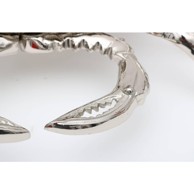 Chrome Nickle-Plated Life Size Crab Form Lidded Dish by Angel & Zevallos C. 2017 For Sale - Image 8 of 10