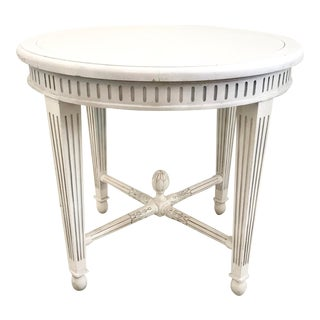 1940s French Jansen Round Center Table For Sale