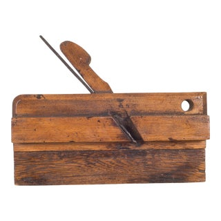 19th C. Wooden Carpentry Plane C.1850-1920 For Sale