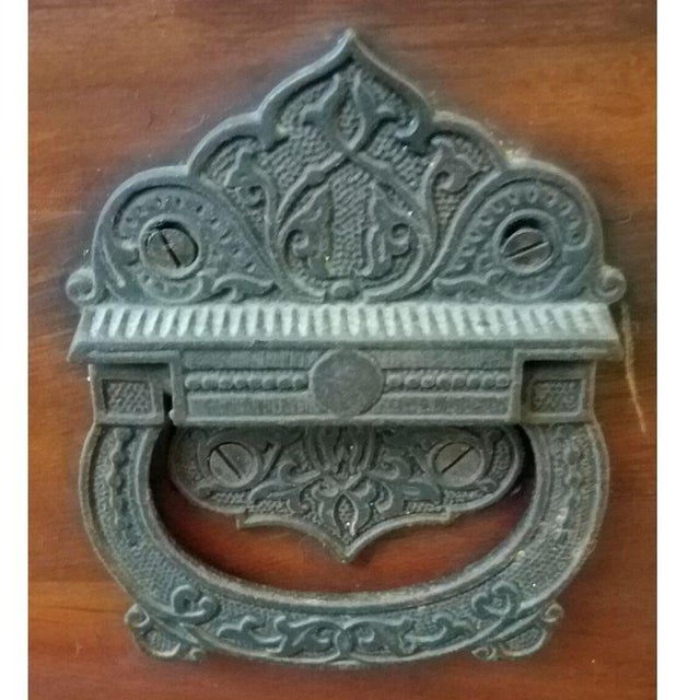 19th Century Antique Victorian Carved Panel Cedar Chest For Sale - Image 11 of 12