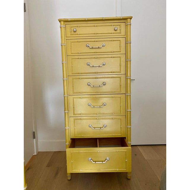 Thomasville Vintage Thomasville Faux Bamboo Dresser For Sale - Image 4 of 10