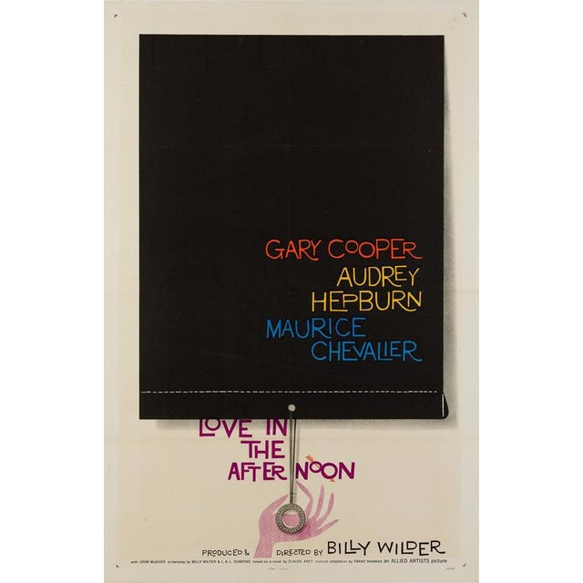 """Saul Bass """"Love in the Afternoon"""" For Sale"""