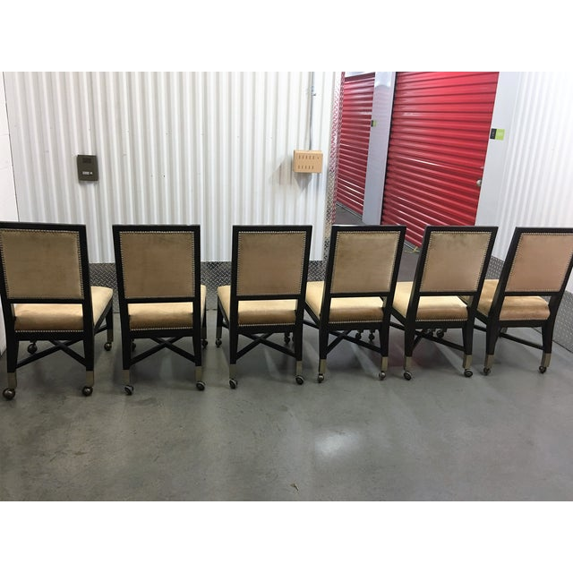 Mark David Gold Velvet Dining Chairs - Set of 6 For Sale - Image 9 of 9