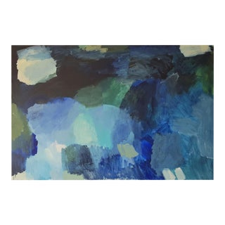 """Contemporary Abstract Acrylic on Streched Canvas Painting """"Under Water"""" by Diana Krinninger For Sale"""