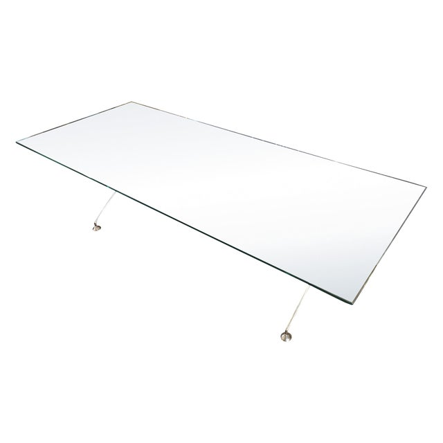 Chrome & Glass Cassina Table - Image 1 of 11
