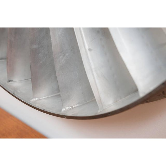 Silver Titanium Jet Engine Mirror For Sale - Image 8 of 9
