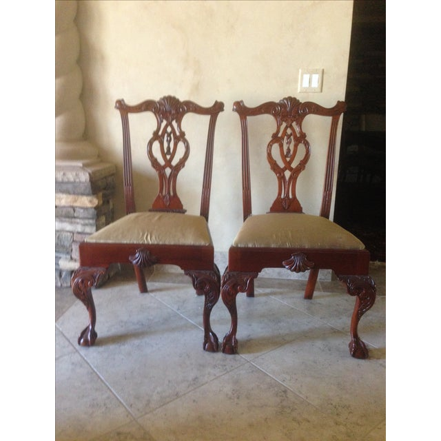 Hickory Chair Mt. Vernon Dining Chairs - Set of 8 - Image 4 of 8