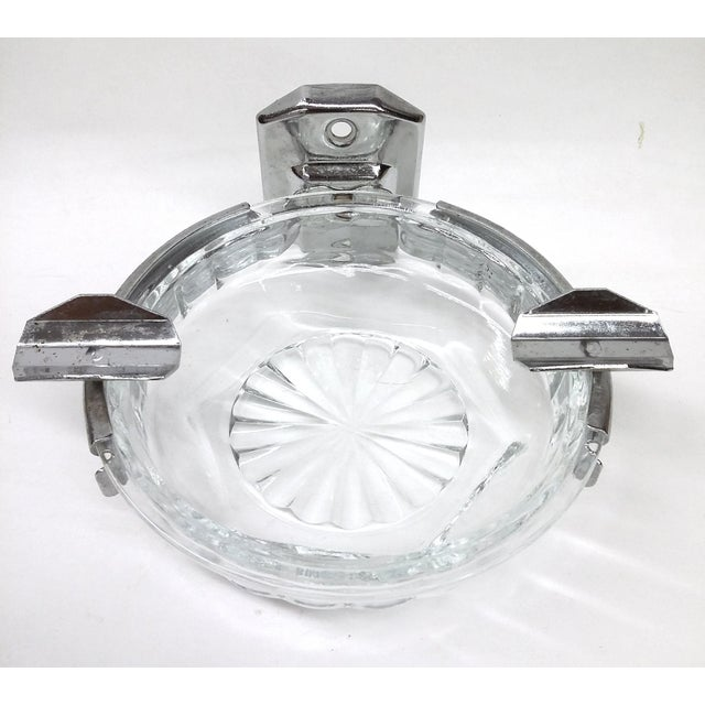 What a cool accessory to add to your vintage bathroom decor! This glass ashtray had been built in to a luxury hotel which...