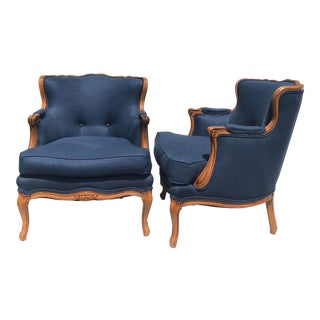 1960s Vintage Louis XV Style Armchairs- A Pair For Sale