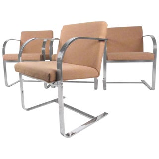 Set of Vintage Modern Mies Van Der Rohe Dining Chairs by Thonet For Sale